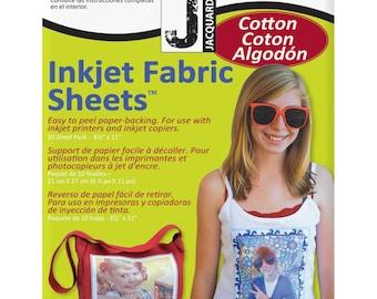 "Jacquard Printable Inkjet Fabric Sheets (10 Sheets)  8.5"" x 11"""