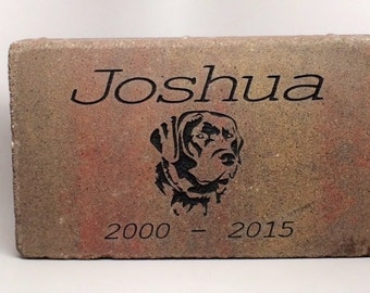 Personalized Pet Memorial Marker. Weighs 24Lbs. 10% of the sale donated to Charity (JOSHUA FUND) Add Your Pets Name, Dates, and a Silhouette
