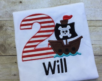 Pirate Shirt, Pirate Birthday Shirt, Pirate Ship Birthday Shirt, Pirate Shirt, Boys Pirate Shirt, Pirate Ship Birthday, Personalized Pirate
