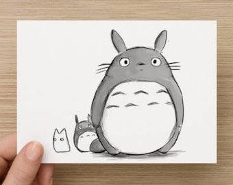 Carte Postale Totoro