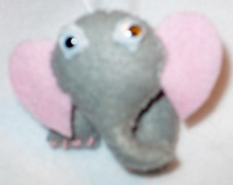 Miniature Felt Elephant Ornament