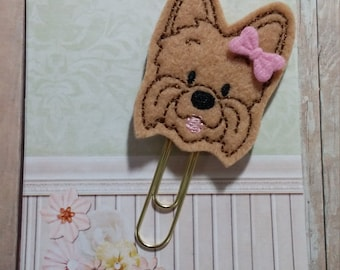 Yorkshire Terrier Planner Clip   Paperclip Bookmark    Bookmark    Paperclip   Planner Bookmark   Paperclip Bookmark   Planner Clips