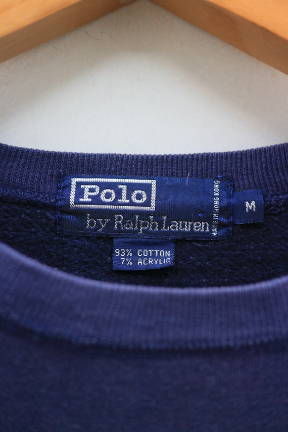 Ralph Vintage By M Size POLO Designer BEAR Lauren Sweater Blue Sweatshirt 4qqtZRW