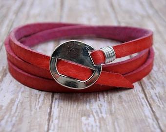 Leather Bracelet, Genuine Leather Bracelet, Leather Wristband, Women's Leather Bracelet, Men's Leather Bracelet, Leather Cuff Bracelet