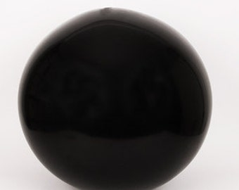 Latex black giant - 90 cm - decoration ball birthday wedding engagement chic