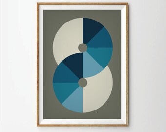 Abstract art, geometric art, art prints, abstract poster, poster art, geometric prints, 60s art, retro posters, 1960s style, retro style art