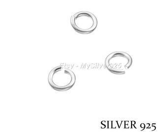 2.5x0.5mm - 10, 100 or 500 925 sterling silver open jump rings - discount