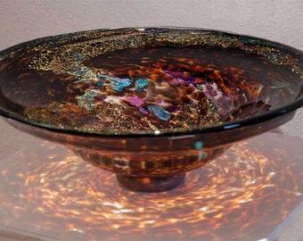 Glass Sink / Blown Glass Sink / Glass Vessel / Glass Bathroom Sink / Glass  Vanity