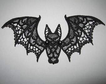 Embroidered Lace Bat