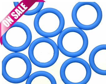 25Pcs blue O-Ring for Licorice Leather 2x12mm