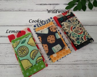 Organic Beeswax Wraps - choose your fabric, triple pack, S+M+L