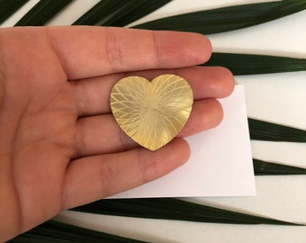 Gold Brooch - Gold Heart Brooch - Heart Jewelry - Valentines Day Gift - Intricate Heart - Love Jewelry - Hearts - Heart Jewellery - Heart