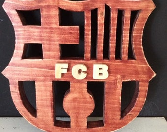 Wooden Shield FC Barcelona Barsa Barca FCB football football
