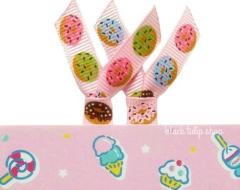 Ribbon Planner Clips Kawaii Donuts Pastel Sweet Paper Clips Planner Accessories Personal Cute Doughnut Bookmarks - 2pc Set