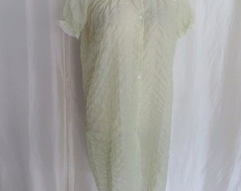 Vintage 60s womens lingerie, nylon robe, nightgown by Godfried, Mothers Day gift