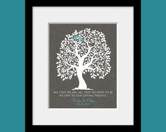 Thank You Gift Personalized for Parents, All That We Are Quote, Parent Wedding Print