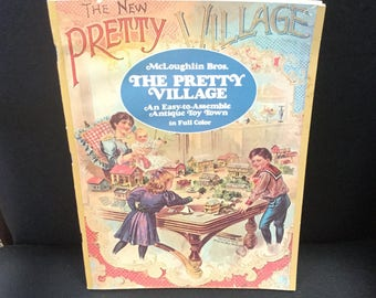 The Pretty Village Antique cut and assemble toy town book