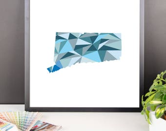 CONNECTICUT State Pattern Map Print, Connecticut Poster, Connecticut Wall Art, Connecticut Art, Connecticut Gift, Connecticut Decor, Print