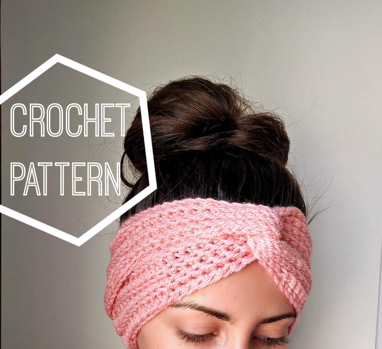 Boho Crochet Turban Ear Warmer Pattern, Women\'s Crochet Headband ...