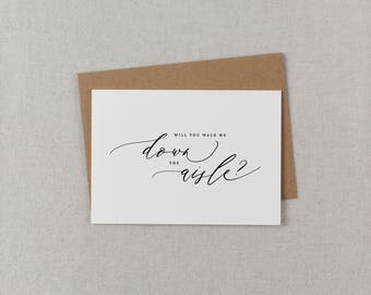 Will You Walk Me Down The Aisle Card, Give Me Away Wedding Day Card, Father of the Bride, Dad Uncle Brother Card, Will You Wedding Card K6