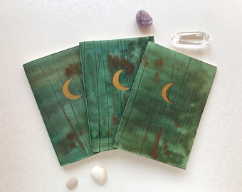 Moon notebook/ Travelers notebook inserts/Art journal/Stationery gift/A5 Travel journal/Astrological gifts/Witch spell book/Crescent moon