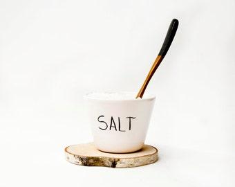 Ceramic salt cellar, Pottery salt cellar, Salt box, Salt pepper cellar, Ceramics & pottery, Scandinavian design, Salt cellar pottery