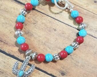 Southwestern Cactus Bracelet