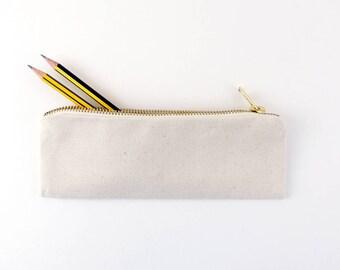 Pencil Case / Pencil Pouch / Pencil Holder / Pencil Bag / Pencil Box / Zipper Pouch / Cotton / Canvas Pencil Pouch /  Small
