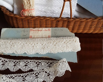 Vintage French Handmade Crochet Lace Trim - 7.5 metres