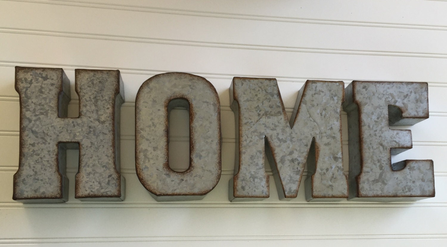 Wood & Galvanized Metal Letter Decorative Metal Letter You Pick  Home Wall Letter Sign