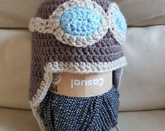 Crochet - beanie baby gift - baby child Aviator Cap