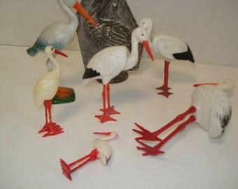Vintage Stork Cake Toppers