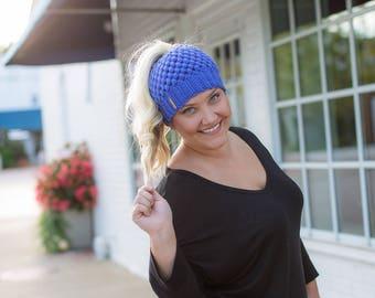 Messy Bun Beanie, Crochet Messy Bun Beanie, Messy Bun Hat, Bun Beanie, Ponytail Beanie, Crochet Ponytail Beanie, Mom Bun Beanie, Messy Bun