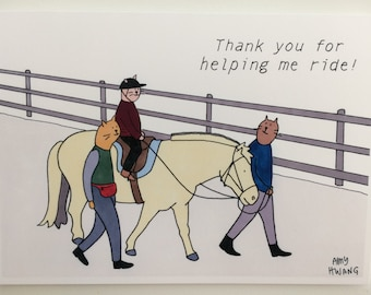 Adaptive Riding Instructor Thank You Card - 5x7