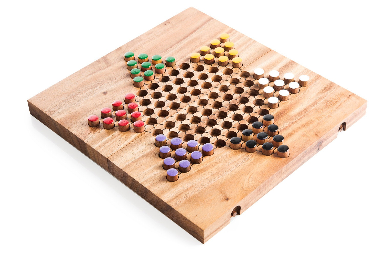 chinese checkers brettspiel aus holz holz brettspiel. Black Bedroom Furniture Sets. Home Design Ideas