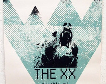 Grizzly Bear / The XX official Detroit Concert Poster