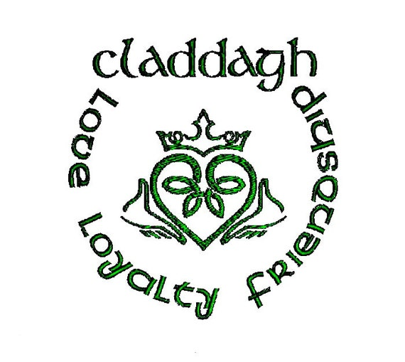 Claddagh Embroidery Design