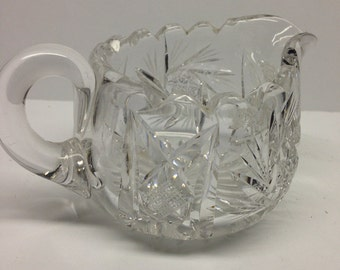 Pressed Glass Creamer