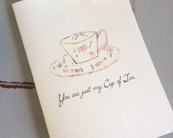 You are Just My Cup of Tea-Folded Notes