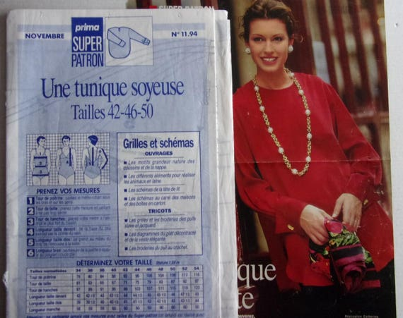 sewing pattern PRIMA No. 11 94 SOYEUSE TUNIC for woman