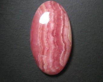 Natural Rhodochrosite Gemstone, Rhodochrosite Cabochon Oval ,Pink Rhodochrosite,Size 14 x 26 mm,Loose Cabochon Rhodochrosite,ET 4273