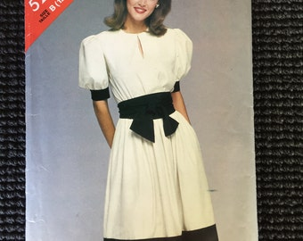 Butterick See & Sew 5245 Misses Dress and Sash Sewing Pattern Size 12-16 UNCUT