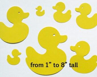Yellow Duck paper die cuts duck die cuts rubber ducky die  cuts  Baby Shower  yellow duck  die cuts  crafts