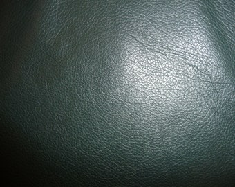 "Leather 20""x20"" DIVINE Forest Green Top Grain Cowhide 2-2.5 oz/.8-1 mm FULL hides available PeggySueAlso™ E2885-19"