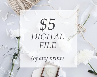 Printable file of any current listing, digital print, scripture print, typographic wall art, wall quote, nursery printable, home decor