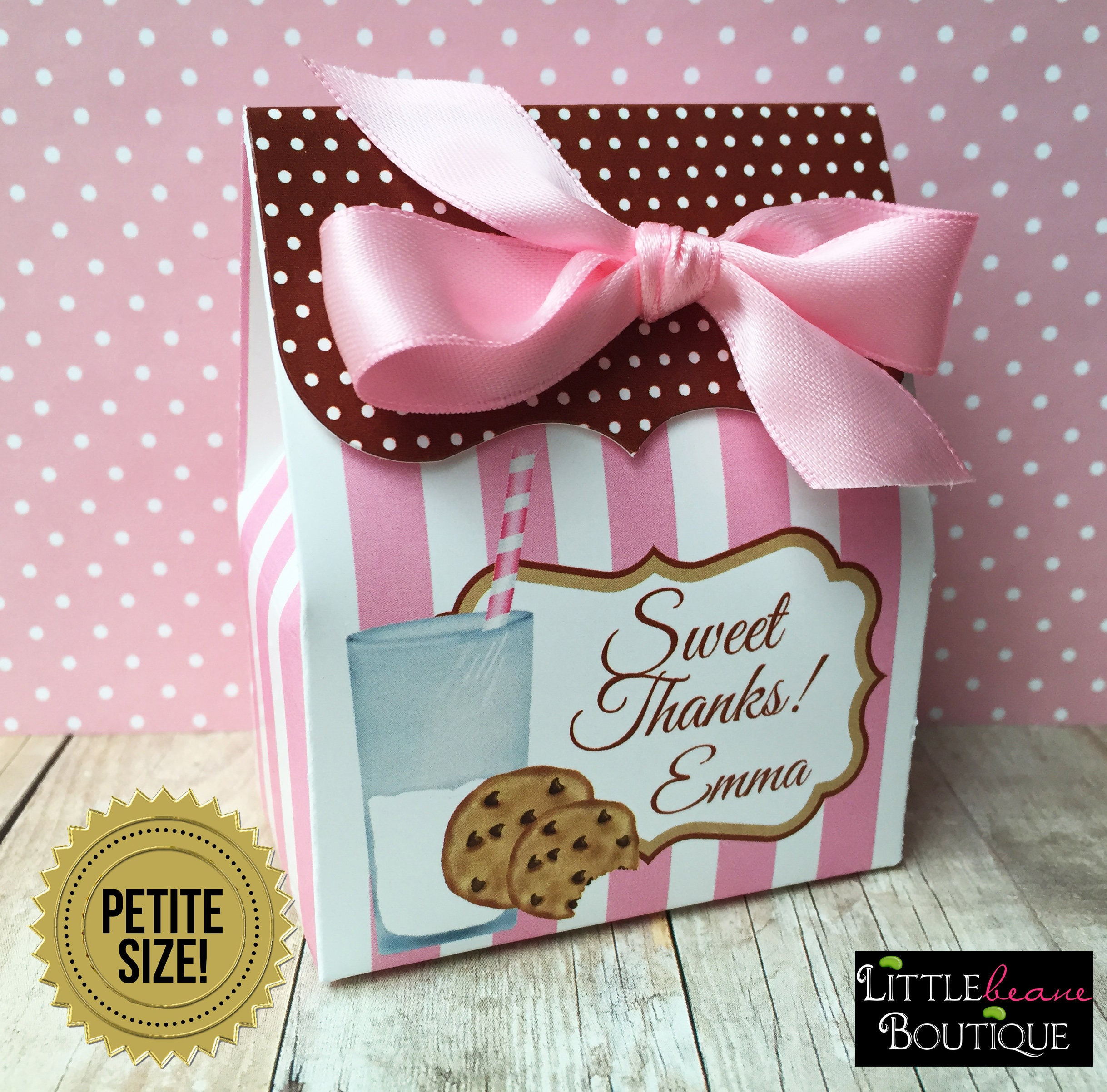 Cookies and Milk Birthday Party Personalized favor Box