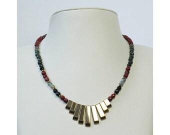 Jewelry necklace beads natural semi precious handmade hand FIRENZE