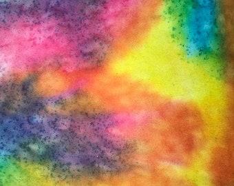 Personalized Rainbow Tie Dye Blanket