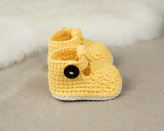 CROCHET PATTERN - Crochet Baby Booties Rubby Slippers - Baby Shoes - PDF