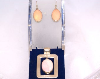 double sided pendant and earrings sterling silver one of a kind